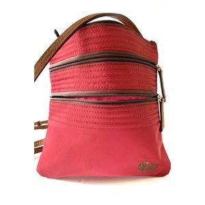 Dooney & Bourke  Nylon Canvas Crossbody Bag Red